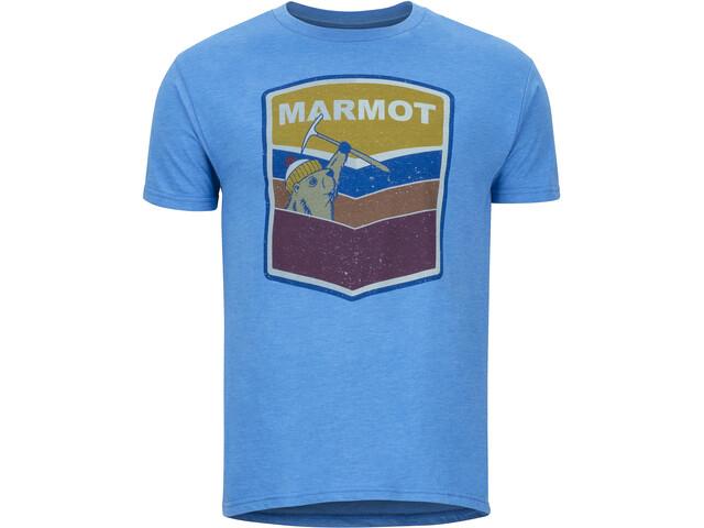 Marmot Retro Lyhythihainen T-paita Miehet, royal heather